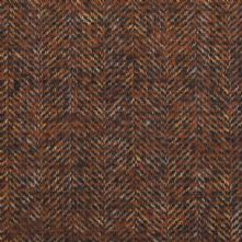 Herringbone Wool Blend Tweed Fabric in Brown and Rust 150cm Wide